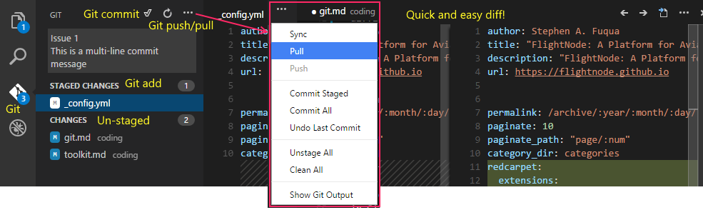 Git in Visual Studio Code